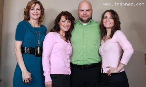 ازدواج همزمان یک مرد با 2 خواهر و یک خاله! +تصاویر