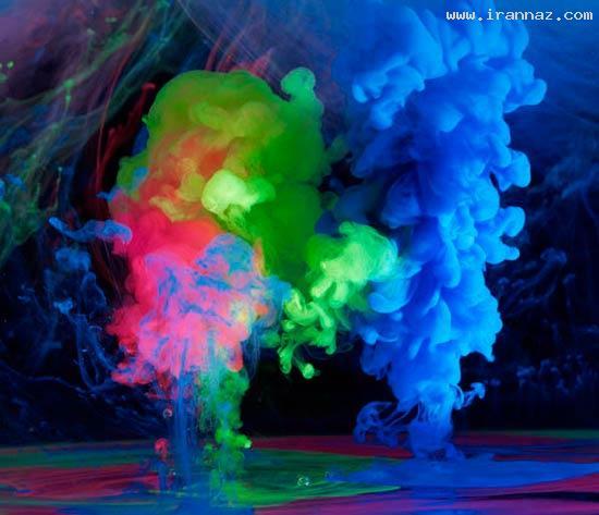 عکس هایی از هنرنمایی فوق العاده زیبا با رنگ و بخار ، www.irannaz.com
