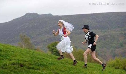اقدام جالب عروس و دامادی در مراسم ازدواج +تصاویر