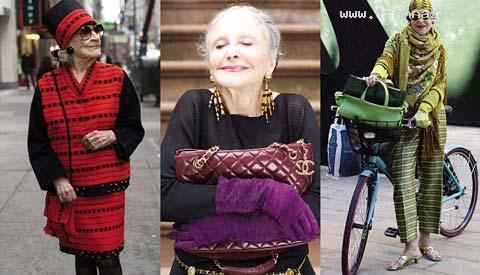 استفاده از مانکن پیر و خوش اندام برای تجارت +تصاویر