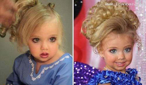 دختری که باید مانند زنان بزرگسال آرایش کند! +عکس