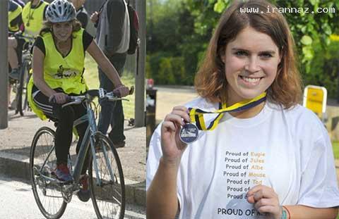دوچرخه سواری پرنسس 22 ساله برای خیریه +تصاویر