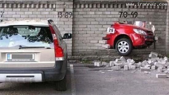 عکسهای دیدنی از خنده دار ترین تصادف های جهان