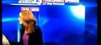 فحاشی و فرار زن گزارشگر در برنامه تلوزیونی +عکس