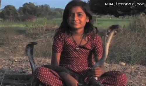 دختری شجاع با خطرناک ترین دوستان جهان! +عکس