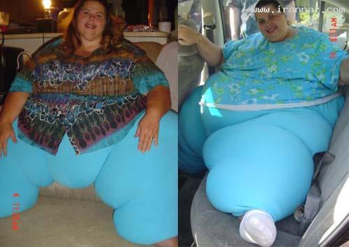 عکس هایی از چاق ترین زن دنیا با 317 کیلوگرم وزن!!