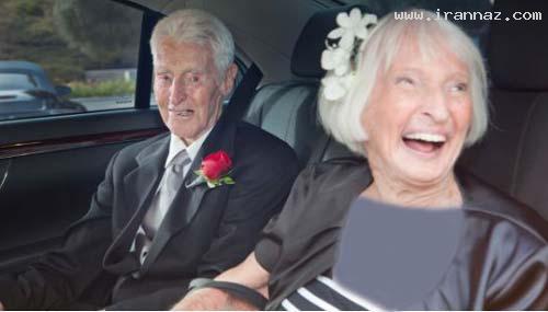 عروسی جالب زوجی عاشق در 100 سالگی +تصاویر