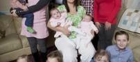 مادر پر مشغله در انتظار دوازدهمین فرزند خود +عکس