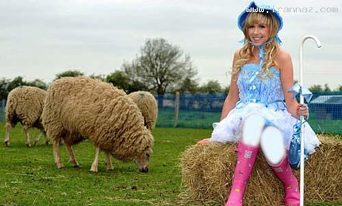 دختری که میخواهد گوسفند فوتبالیست پرورش دهد!!