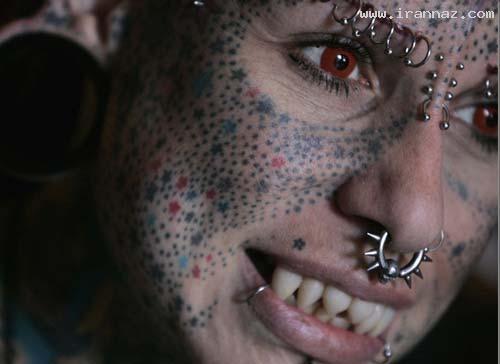 زنی با جراحی خود را به خون آشام تبدیل کرد +تصاویر