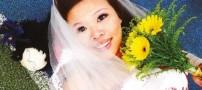 ازدواج عجیب و باورنکردنی یک خانم با خودش! +عکس