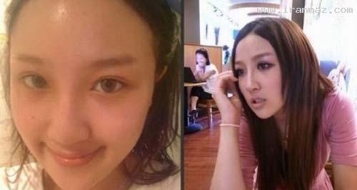 عکس هایی از دخترانی زشت که با آرایش زیبا شدند!