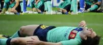 آسیب دیدن مچ پای تکنیکی ترین بازیکن فوتبال جهان
