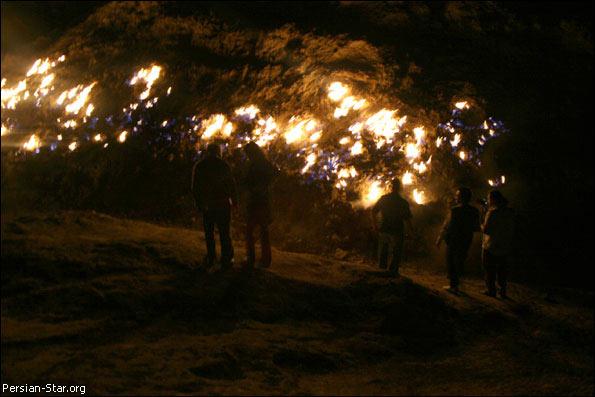 کوه آتشین رامهرمز از شگفتیهای ایران زمین