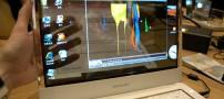 لپ تاپی با نمایشگر شفاف