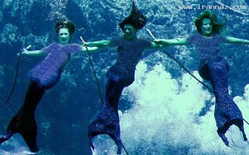 اجرای رقص زنان در زیر آب برای جذب توریست +عکس