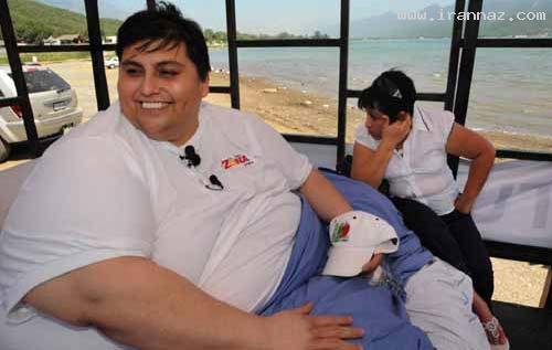 عکس های ازدواج مانویل یوریب سنگین ترین مرد جهان