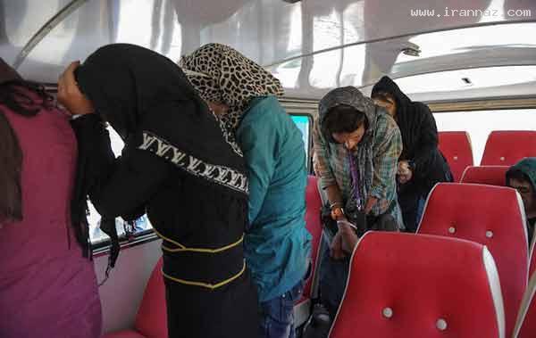 عکس های کریه از دستگیری زنان معتاد در فرحزاد