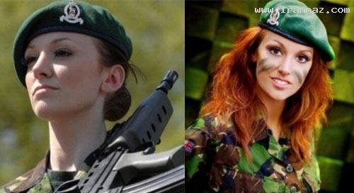 عکس های زنی که جذاب ترین سرباز دنیا لقب گرفت!