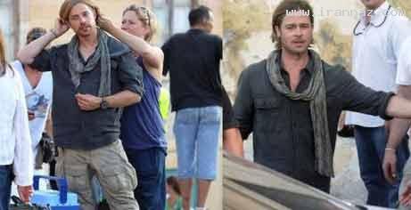 عکس های دیدنی بازیگران هالیوود در کنار بدلهایشان