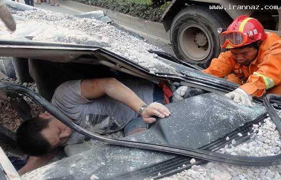 عکس های باورنکردنی از خوش شانس ترین راننده دنیا
