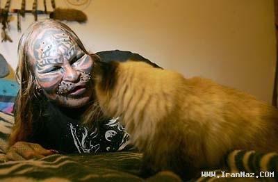 عکس های زنی که با جراحی خود را شبیه حیوان کرد ، www.irannaz.com