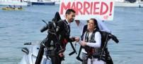 مراسم هیجان انگیز اولین عروس و داماد پرنده+تصاویر