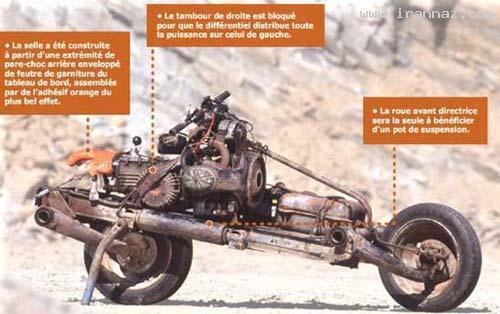 تبدیل ژیان به موتور سیکلت توسط مردی خلاق+عکس