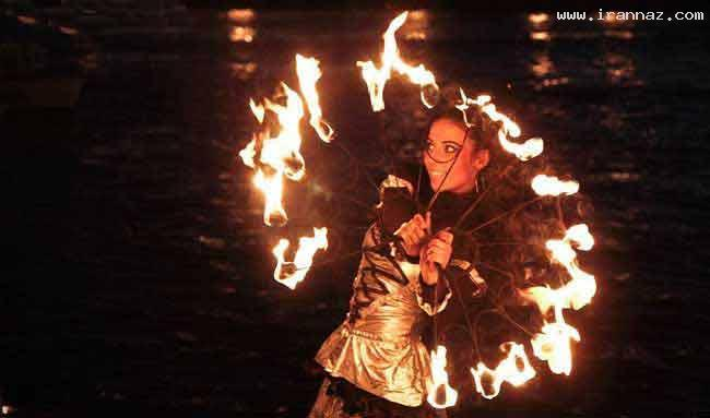 عکس های دیدنی و زیبای دختران در جشن رقص آتش
