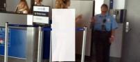 عریان شدن بدون دلیل یک خانم در فرودگاه!! +عکس