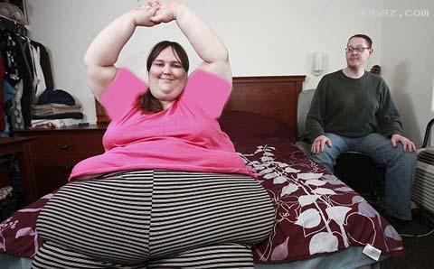 ازدواج جالب چاق ترین زن دنیا با یک سرآشپز +عکس