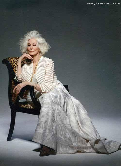 عکس هایی از جذاب ترین و زیباترین مانکن 80 ساله