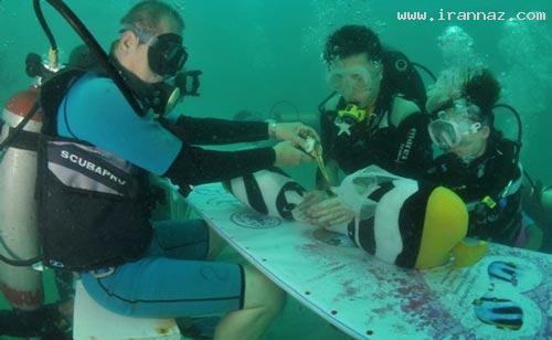 عکس های بسیار زیبا و دیدنی از ازدواج در اعماق دریا