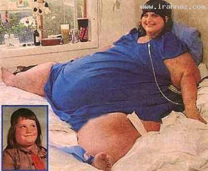 زنی که چاق ترین انسان تاریخ شد + عکس