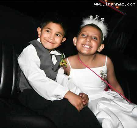 مراسم باشکوه ازدواج یک دختر و پسر 9 ساله+عکس