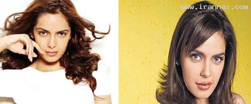 عکس های زنان بازیگر بالیوود قبل و بعد جراحی زیبایی