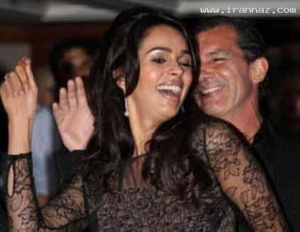 جنجال رقصیدن بازیگر معروف با یک زن هندی  +عکس