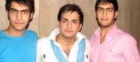 عکسی دیدنی از حامد کمیلی با برادران دوقلویش