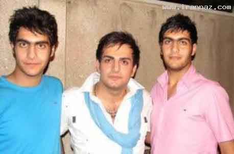 www.irannaz.com عکس دیدنی حامد کمیلی با برادران دوقلویش