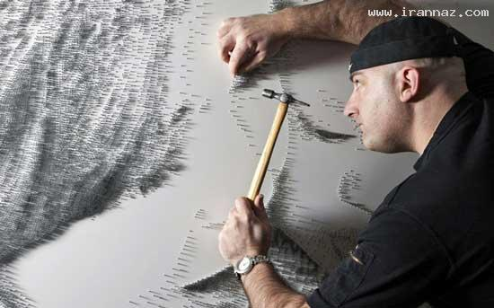 عکس هایی از هنر نمایی باور نکردنی با میخ و چکش ، www.irannaz.com