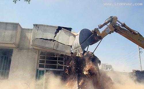 عکس های تخریب منازل و مراکز فساد در شهر شیراز!