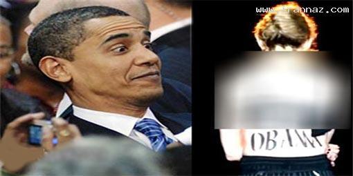 عریان شدن خواننده زن برای حمایت از اوباما!! +عکس