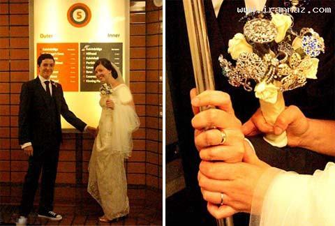روش جالب و غیر عادی ازدواج این زوج جوان!! +تصاویر