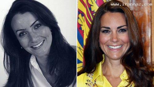 شباهت باورنکردنی این زن به کیت میدلتون! (+تصاویر)