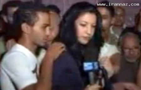 آزار جنسی زن خبرنگار در حین پخش گزارش از تلویزیون