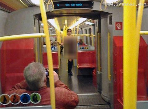 زن برهنه در مترو اتریش همه را شوکه کرد! (+عکس)