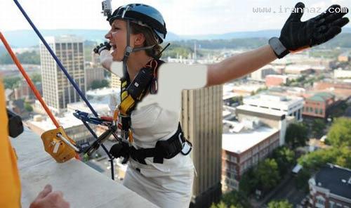 پرش عروس خانمی شجاع از طبقه بیستم! (+تصاویر)