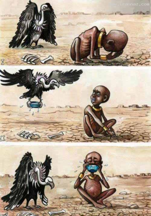 یک شوخی معنادار با غم انگیزترین عکس تاریخ جهان!!