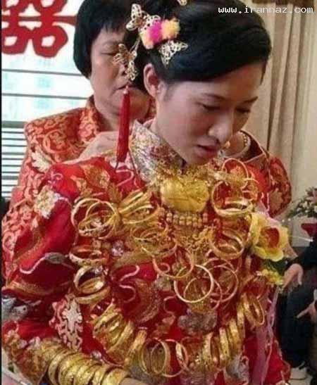 این عروس با شش کیلو طلا به منزل شوهر خود رفت!