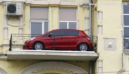 به نظر شما این ماشین چگونه اینجا پارک شده است؟!